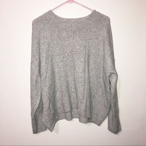 Topshop gray crew neck slouchy sweater size 10 med